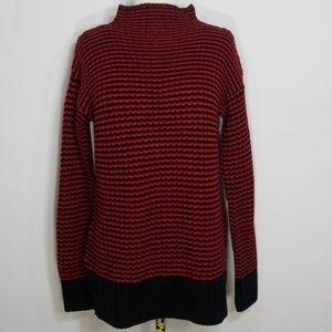 Sanctuary Red Roller Mockneck Oversized Sweater XS